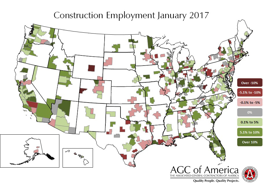 January 2017 Metro Construction Employment